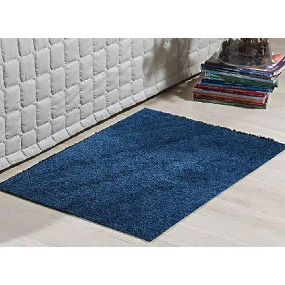 Tapete Passadeira Classic 66 x 120 cm Azul Jeans
