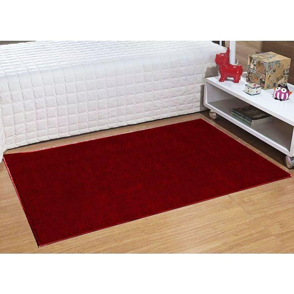 Tapete Passadeira Classic 66 x 120 cm Vermelho Cereja Rubi