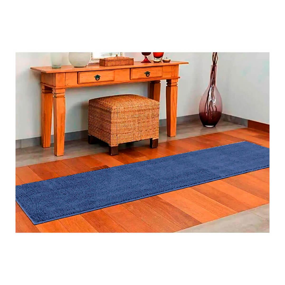 Tapete Passadeira Classic 66 x 230 cm Azul Jeans