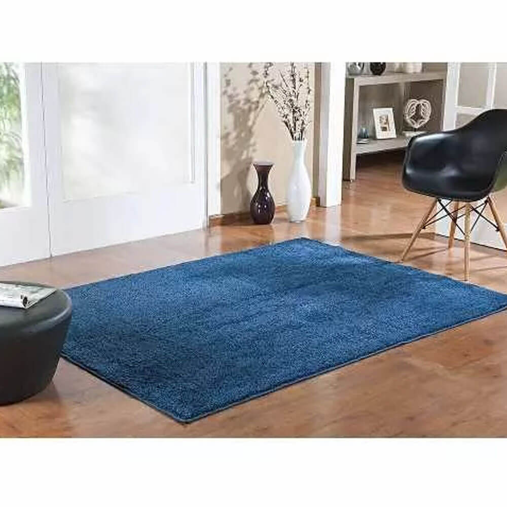 Tapete Quadrado 200 x 200 cm Classic Azul Jeans Oasis