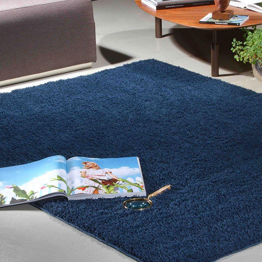 Tapete Sala 100 x 150 cm Azul Oasis Cosmic