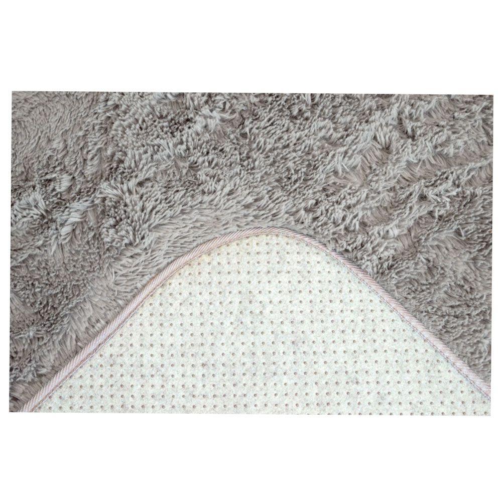 Tapete Sala Felpudo Macio Spazio 1,50 x 2,00 m Cinza Sultan