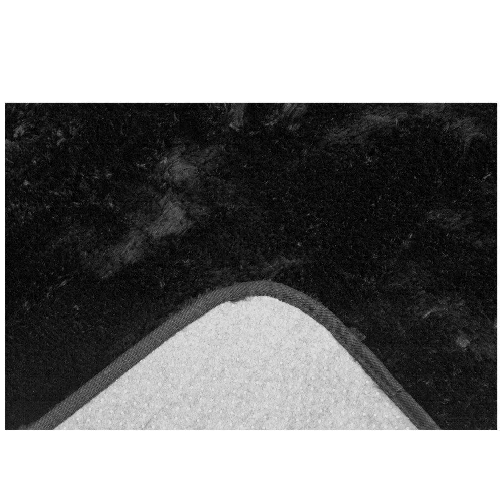 Tapete Sala Felpudo Macio Spazio 1,50 x 2,00 m Preto Sultan