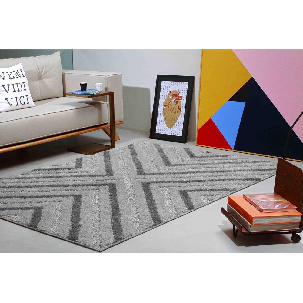 Tapete Sala Jazz 150 x 200 cm Alto e Baixo Relevo 03 Minerio