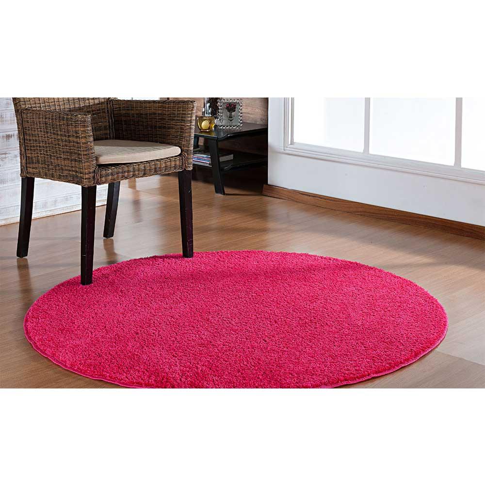 Tapete Sala Redondo 200m Classic Rosa Pink