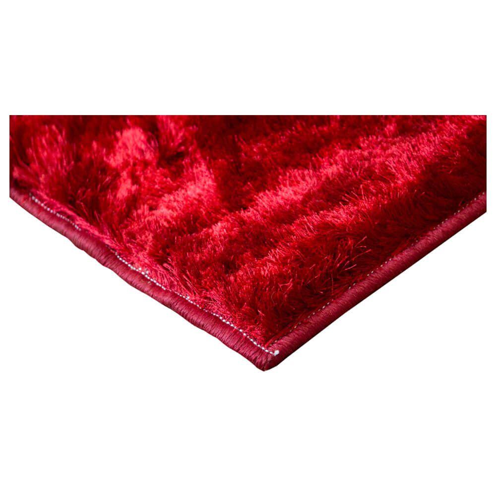Tapete Sala Veludo Cortado Shaggy 2,00 x 3,00 m Vermelho Sultan