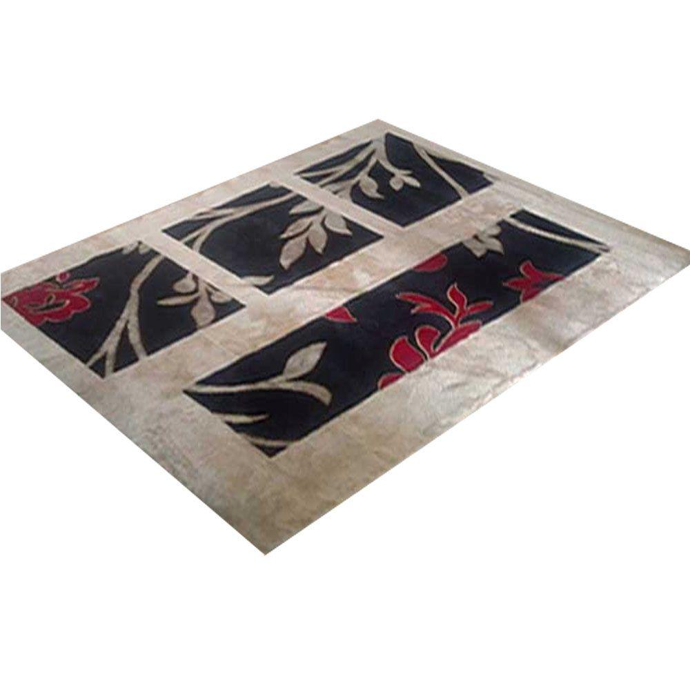 Tapete Veludo para Sala 100 X 150 cm Cingapura Caqui Rayza