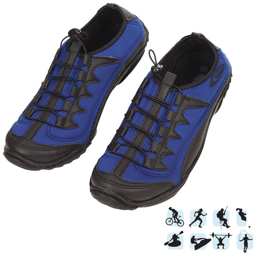 Tênis Esportivo Anfibius Cardume Permeável Unissex Azul 35 á 46