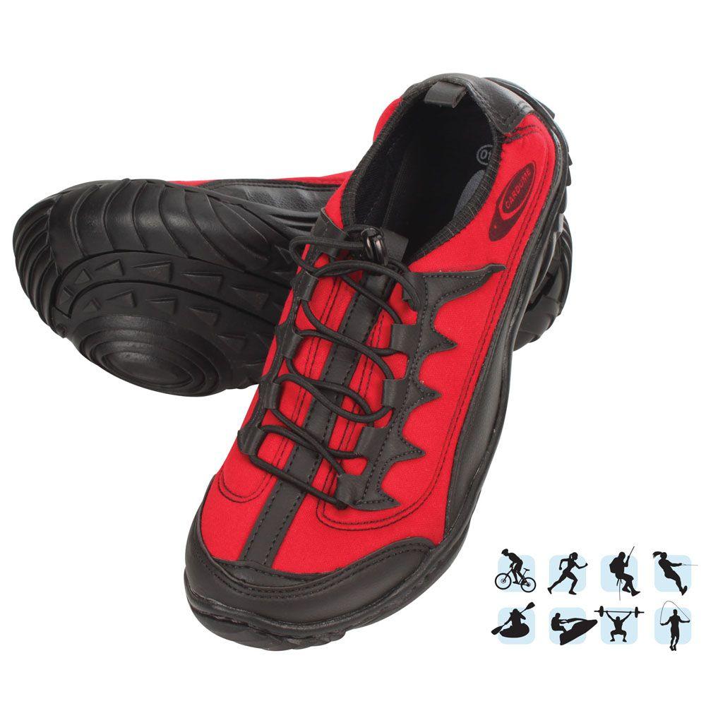 Tênis Esportivo Anfibius Cardume Permeável Unissex Vermelho 35 á 46