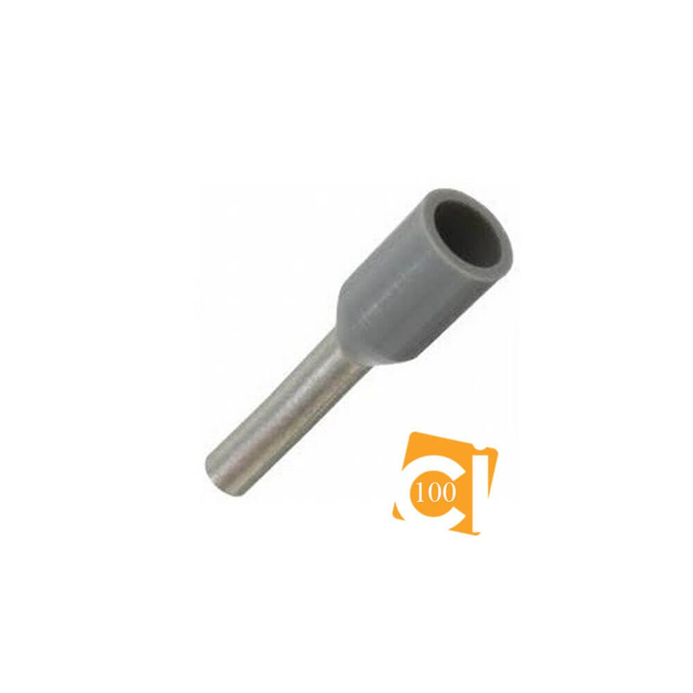 Terminal Isolado Tubular Ilhós 4,0mm² - 100 unidades