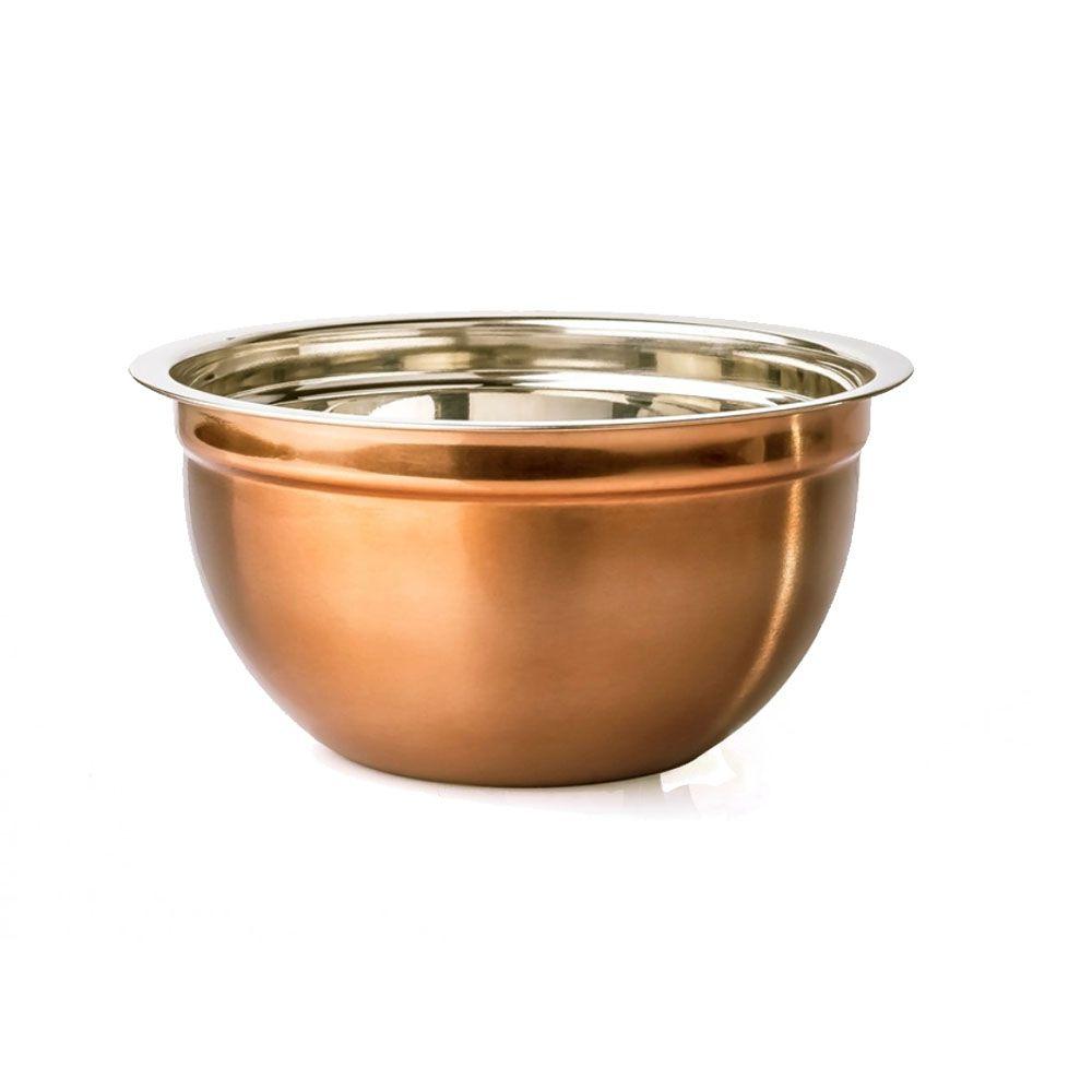 Tigela Bowl Multiuso 17 cm diâmetro Inox Cobre Rosé Attuale
