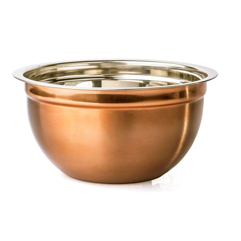 Tigela Bowl Multiuso 26 cm diâmetro Inox Bronze Rosé Attuale