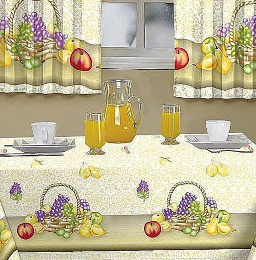 Toalha De Mesa Casa Alegre 1,45 X 1,40 Cesta De Frutas