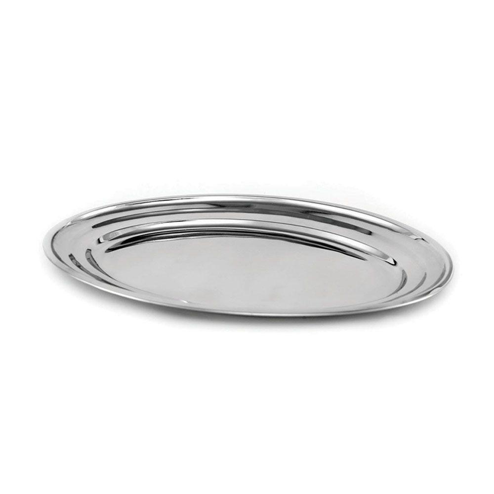Travessa Oval Plana Aço Inox 35 cm Attuale