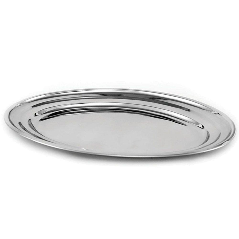 Travessa Oval Plana Aço Inox 40 cm Attuale