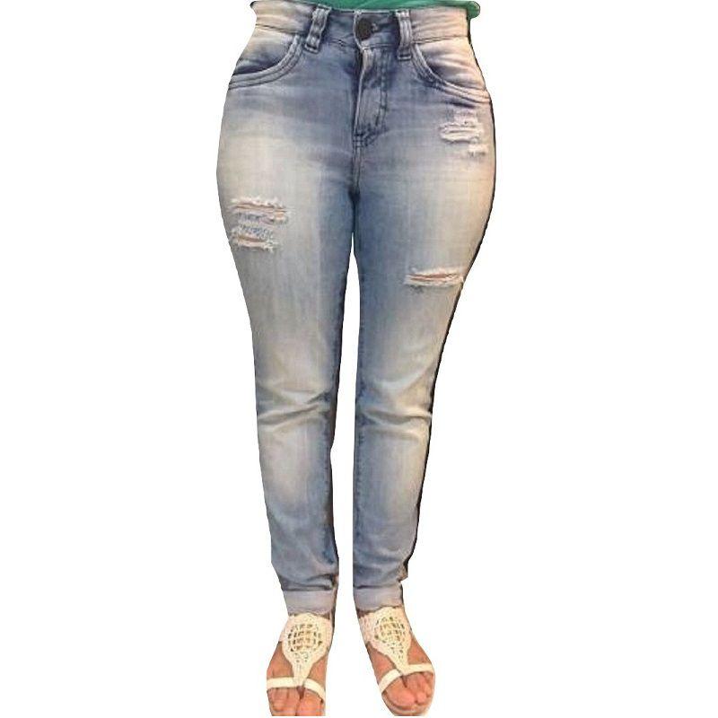 a044bd452 Calça Jeans Feminina Cigarrete Eventual Mid Rise Skinny - Tequila Store