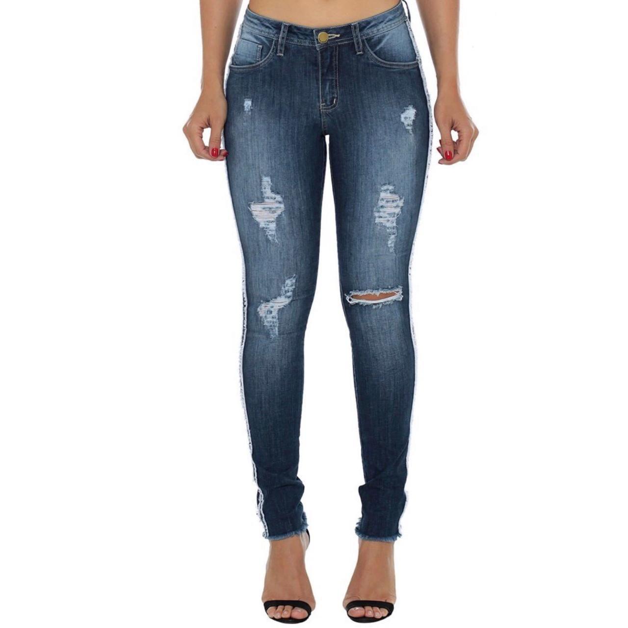9f56ea6ad Calça Jeans Feminina EVT Skinny Cigarrete Destroyed Eventual ...