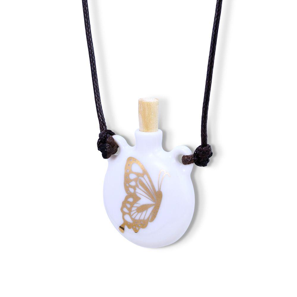Aromatizador Pessoal ou Porta  Perfume Borboleta Dourada