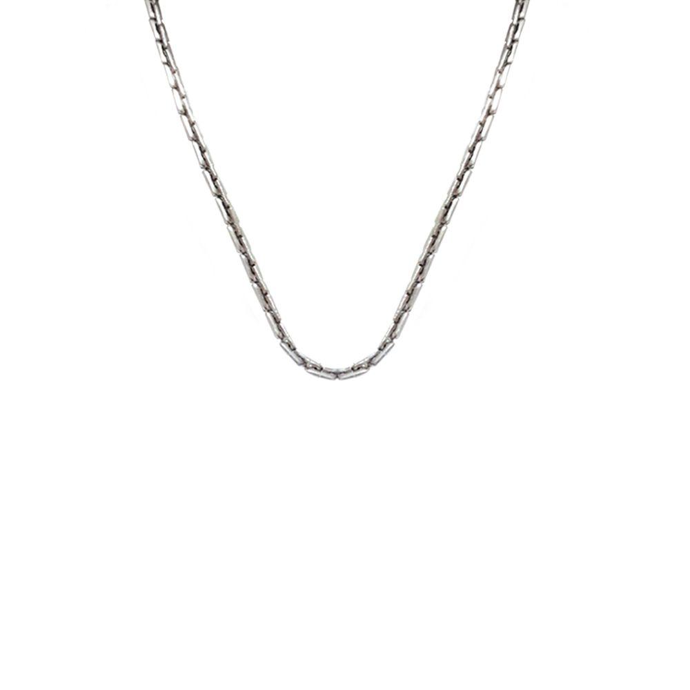 Corrente Aço Inox com Elos Retangulares com 45,5 cm