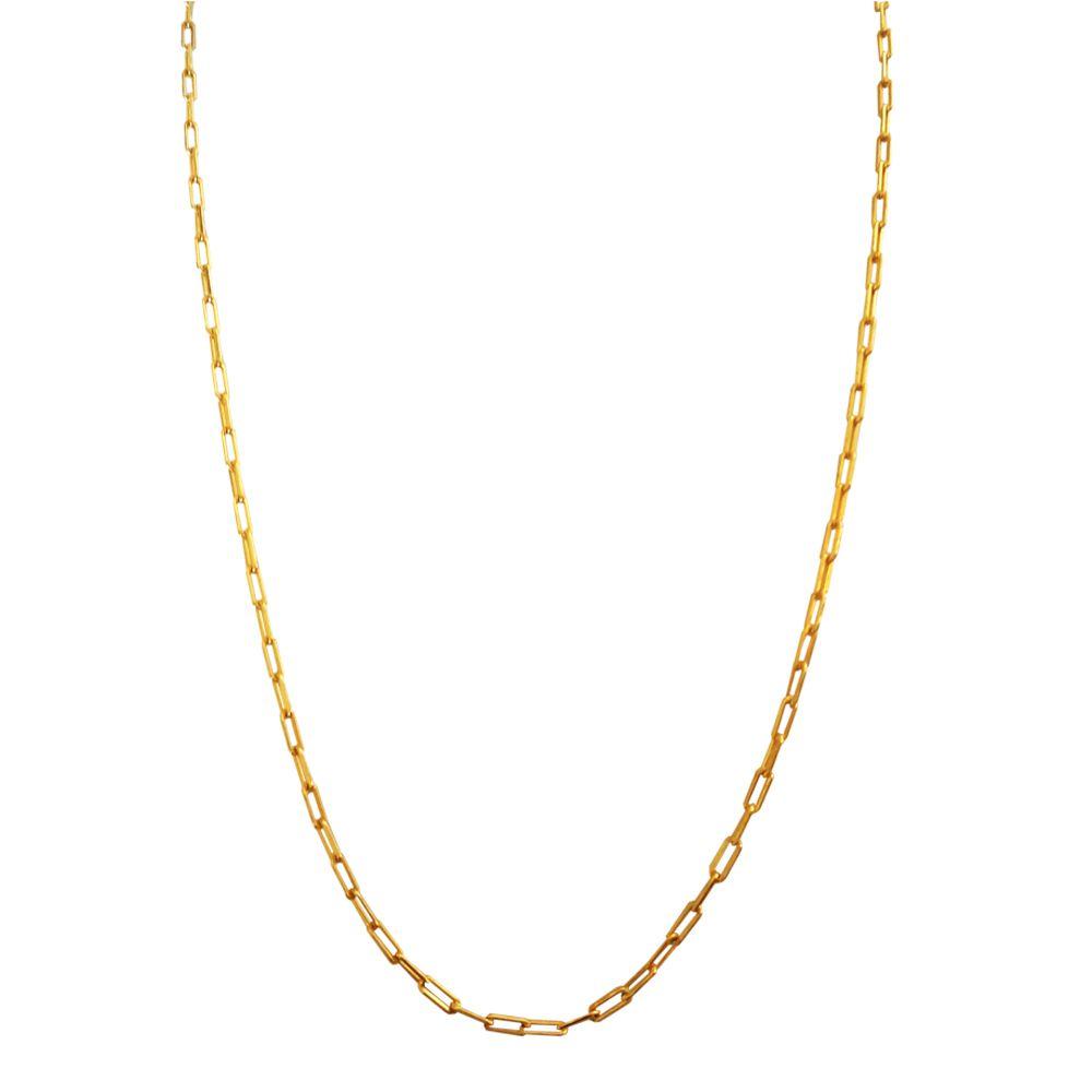 Corrente Banhada com Ouro 18k  Cartier de 1,5 mm  com 58,5 cm