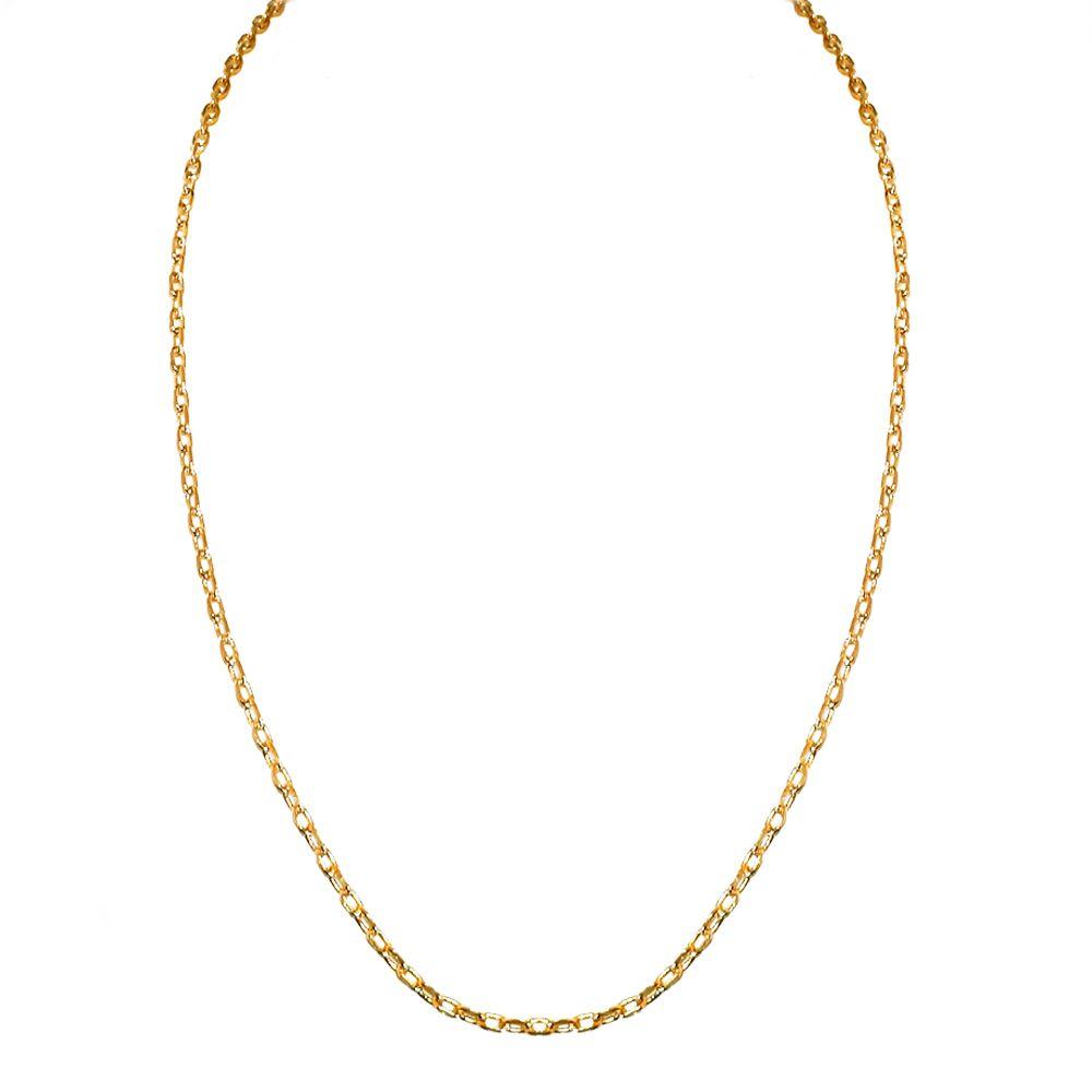Corrente Banhada com Ouro 18k  Cartier  de 2,5 mm  com 59,5 cm