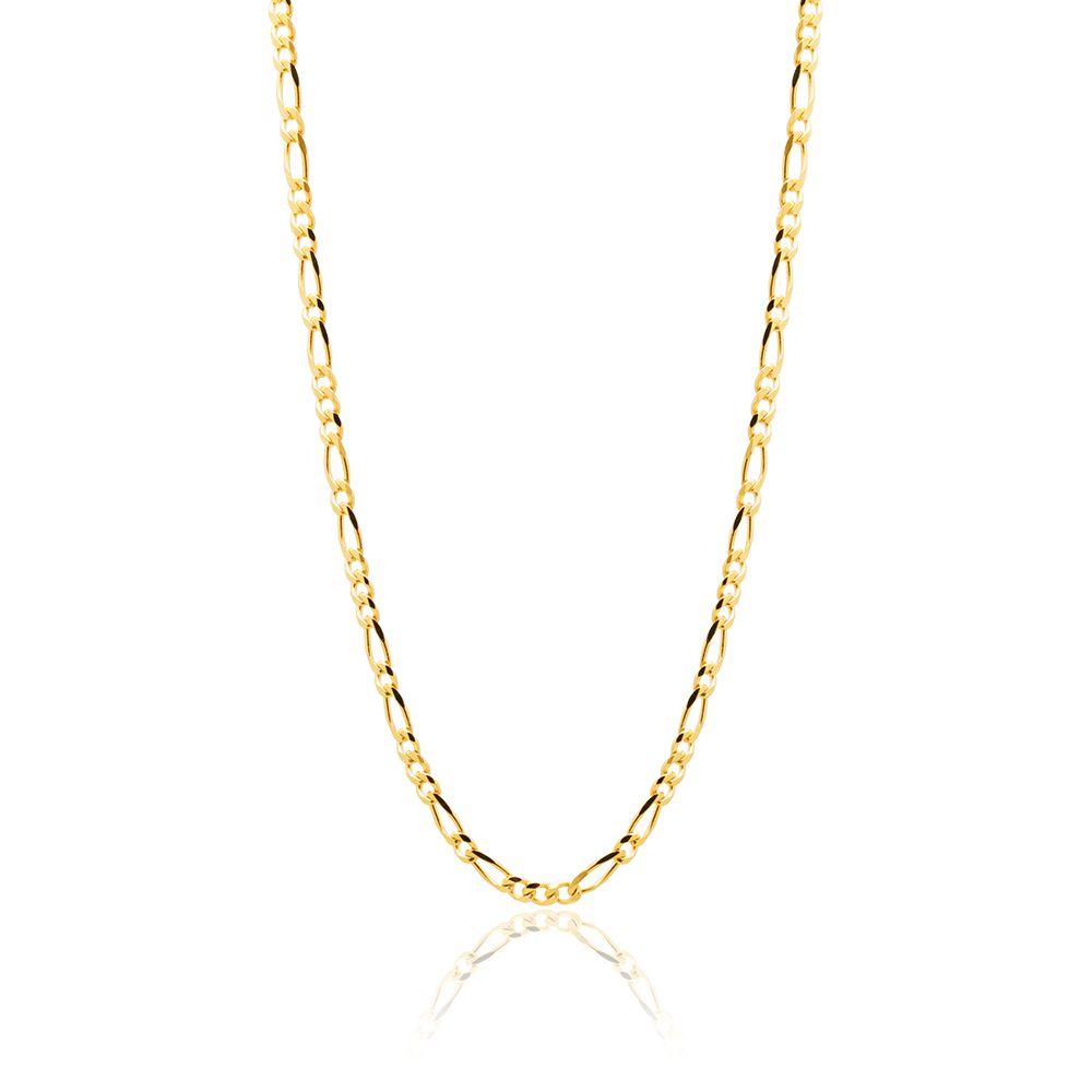Corrente Banhada com Ouro 18k  Elos de 3,0 mm  com 59,5 cm