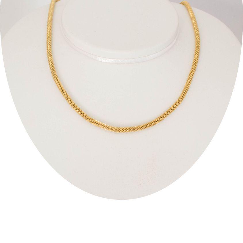 Corrente com Malha Banhada ouro 18k Tipo Grega com 47 cm
