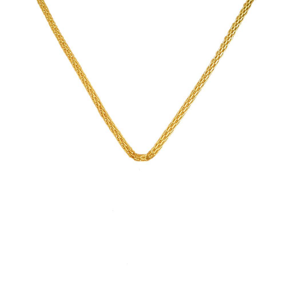 Corrente com Malha Banhada ouro 18k Tipo Italiana com 44 cm