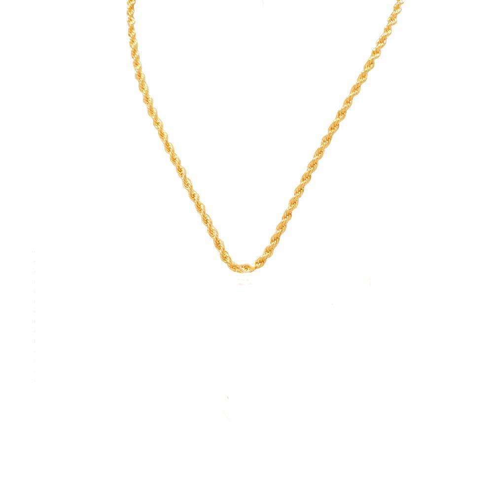 Corrente Cordão Baiano Banhado com ouro 18k  com 45 cm
