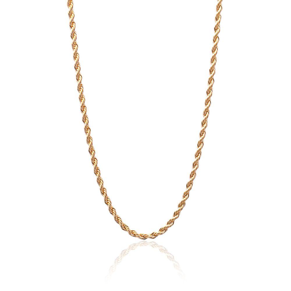 612ddcb3d25 Corrente Cordão Baiano Banhado com ouro 18k com 45 cm