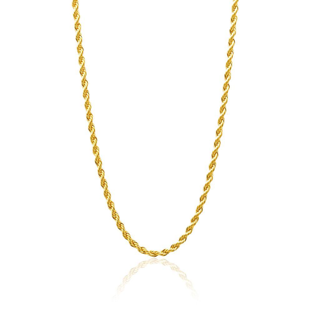Corrente Cordão Baiano Banhado com ouro 18k  com 50 cm