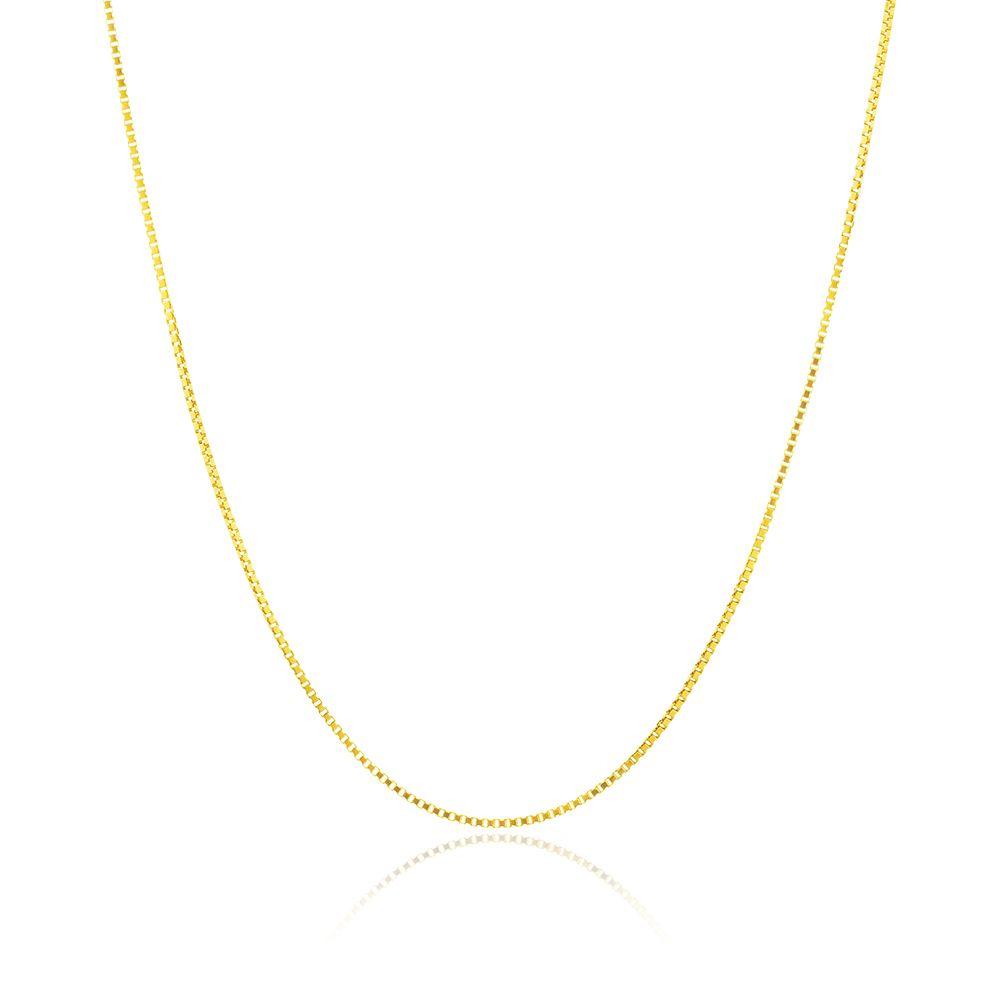Corrente Veneziana Banhada Ouro 18K com 45 cm