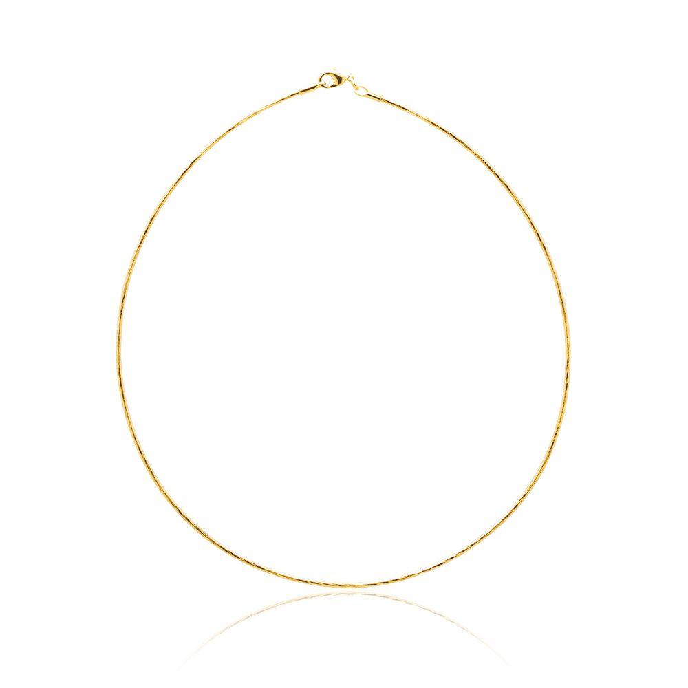 Gargantilha Banhada 18k ouro 18k  com 40 cm