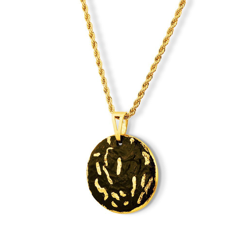 Pingente Black Gold Joyful detalhes Ouro 18k