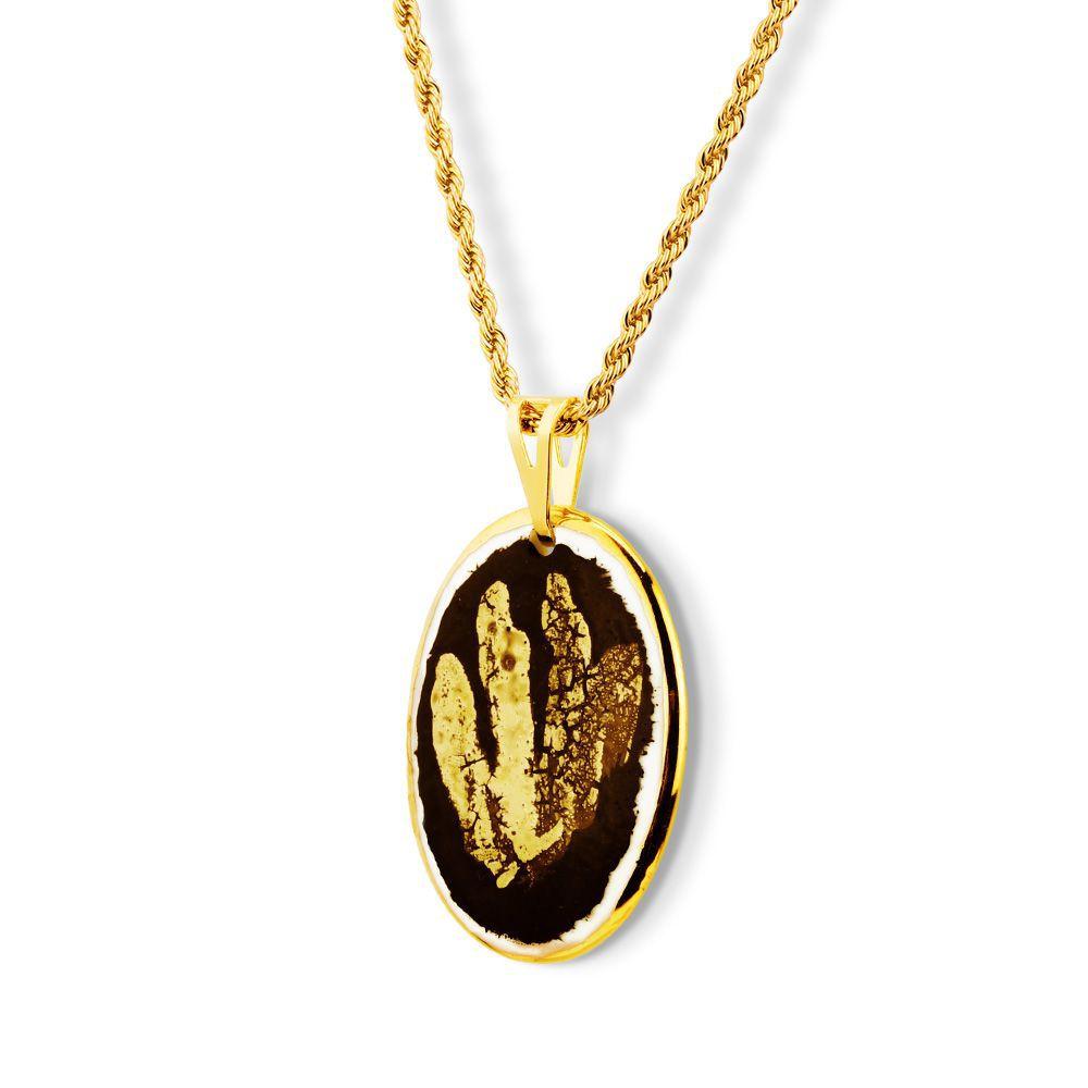Pingente Black Gold  Rays detalhes ouro 18k
