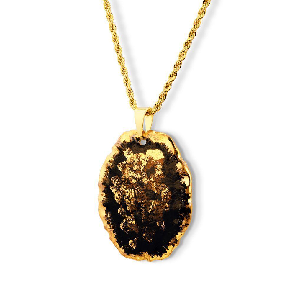Pingente Black Gold  Sky detalhes ouro 18k