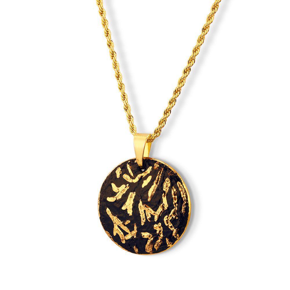 Pingente Black Gold Smiles detalhes ouro 18k