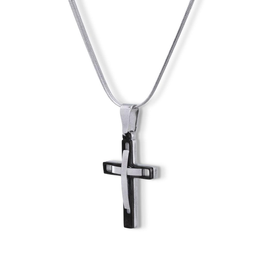 Pingente Crucifixo  Aço inox Cirúrgico com pintura automotiva preta
