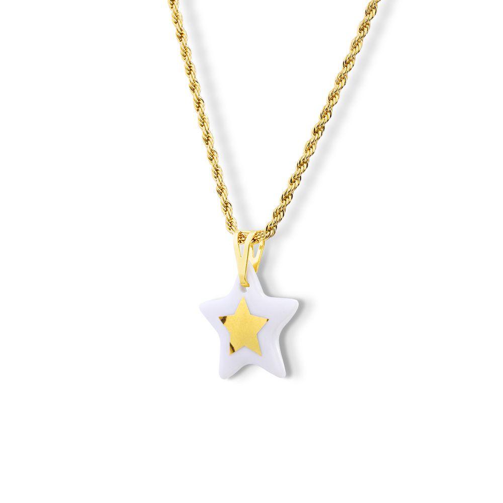 Pingente Estrela Dourada