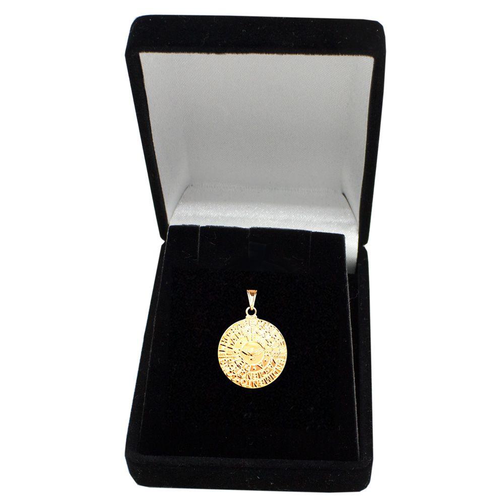 Pingente Medalha 7 Dons do Espírito Santo Banhado com ouro 18k c062c9ee9b