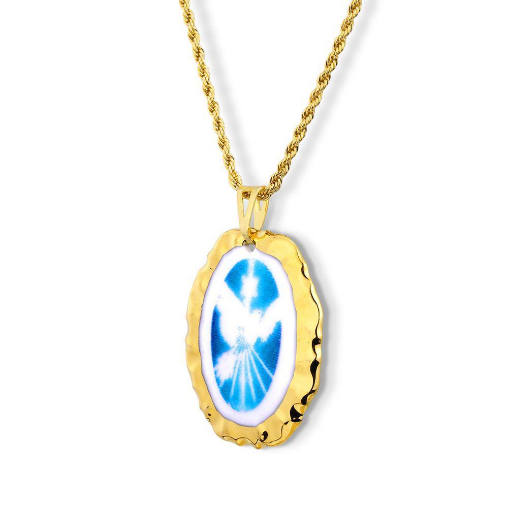 Pingente Medalha Espírito Santo Ouro