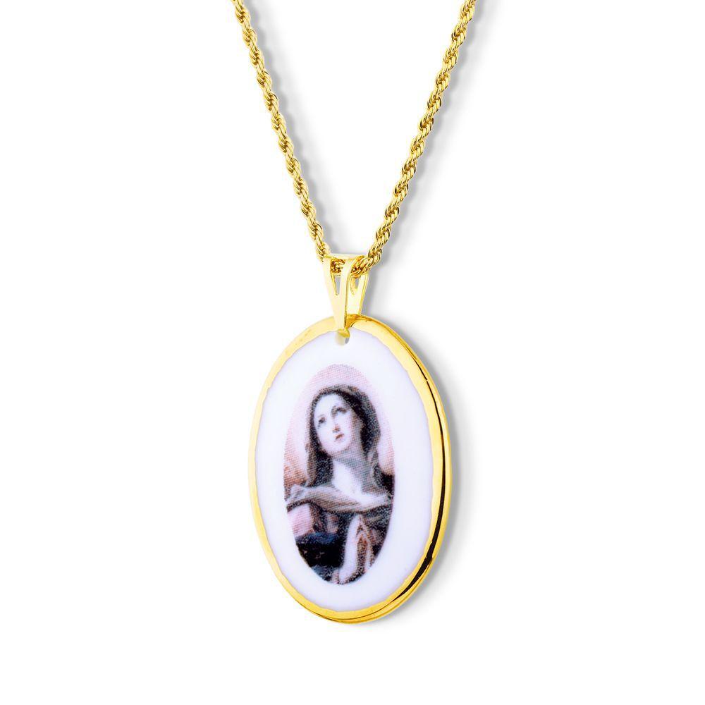 Pingente Medalha Nossa Senhora das Dores  Ouro