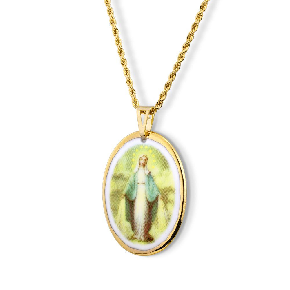Pingente Medalha Nossa Senhora Das Graças Ouro