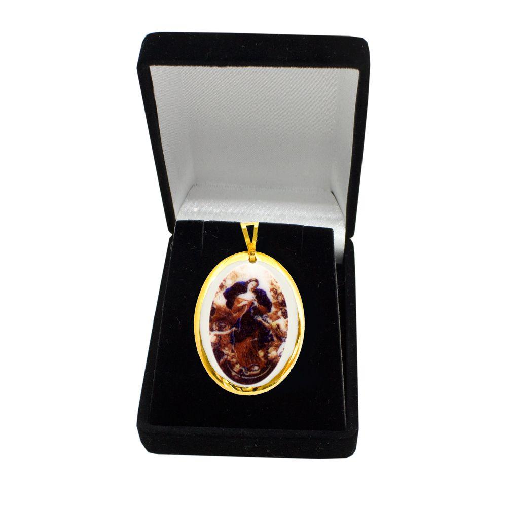 Pingente Medalha Nossa Senhora Desatadora de Nós Ouro Pequena