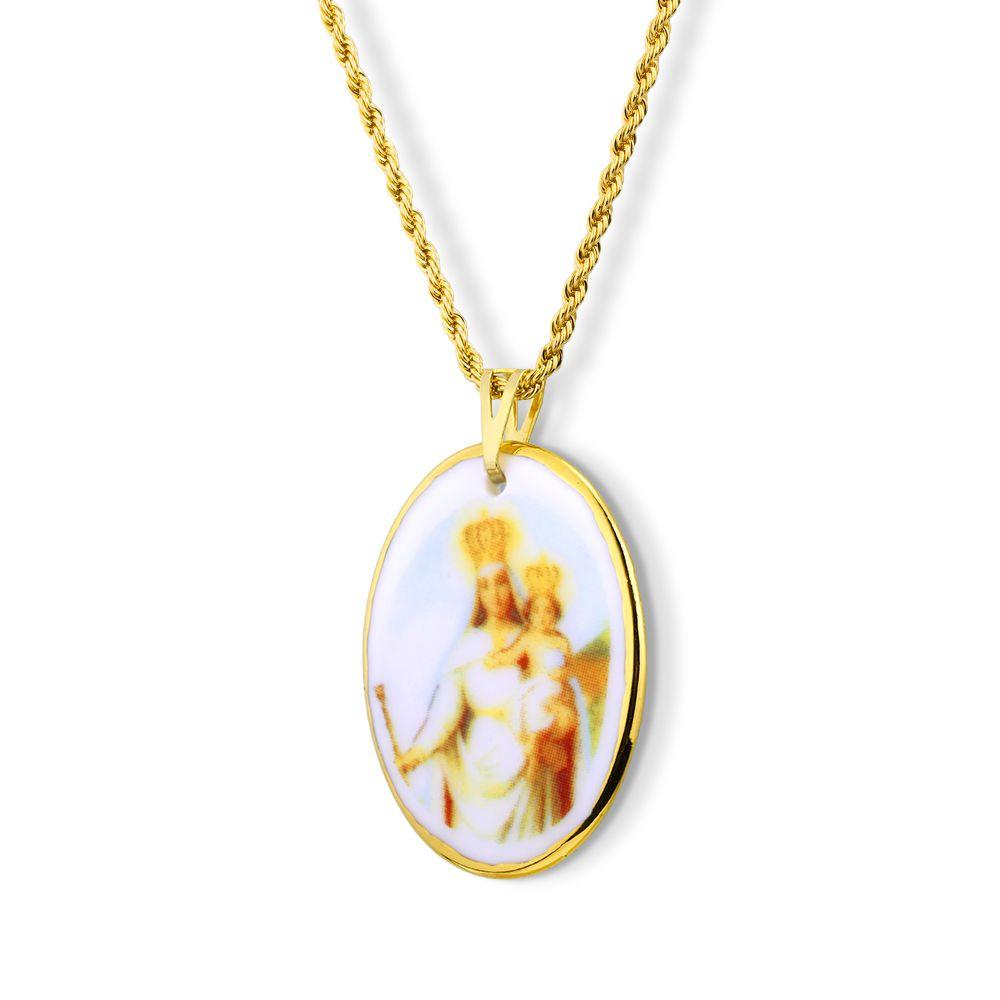 Pingente Medalha Nossa Senhora Penha Ouro