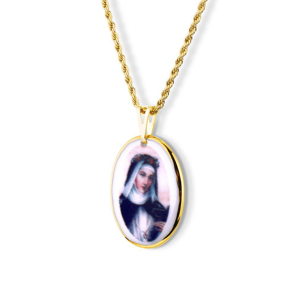 Pingente Medalha Nossa Senhora Salete Ouro pequena