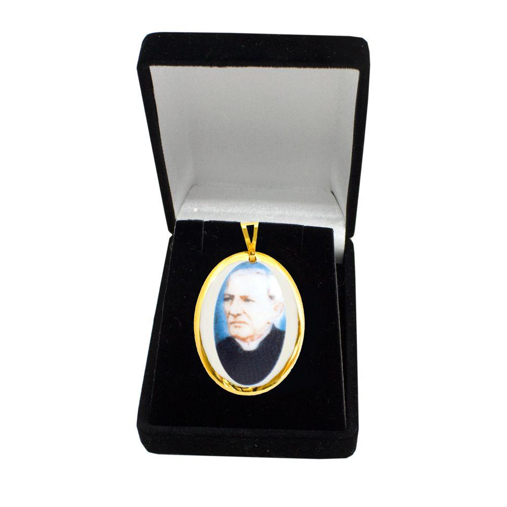 Pingente Medalha Padre Cícero Ouro Pequena