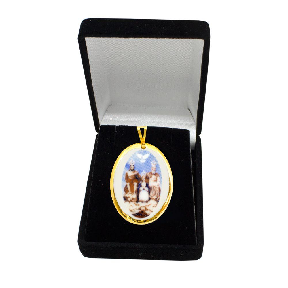 Pingente Medalha Divino Pai Eterno Ouro Pequena