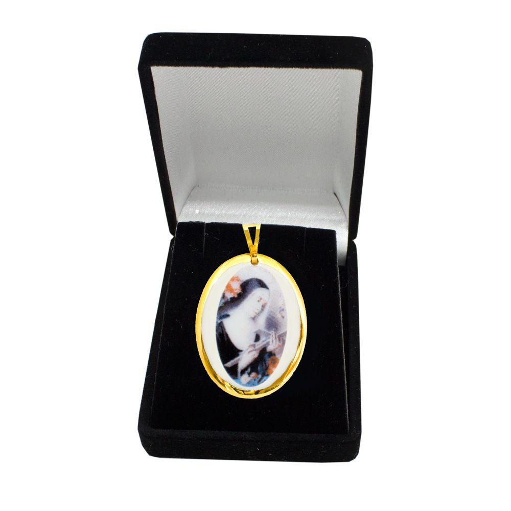 Pingente Medalha Santa Rita Ouro pequena