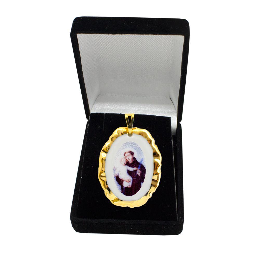Pingente Medalha São Benedito Ouro Pequena 3822c26be0